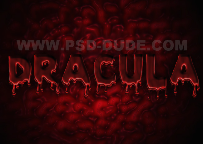 dripping blood text effect in photoshop