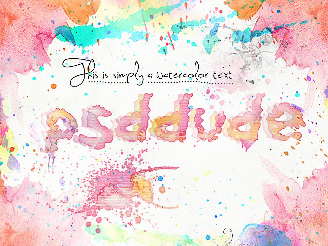 watercolor text effect in photoshop