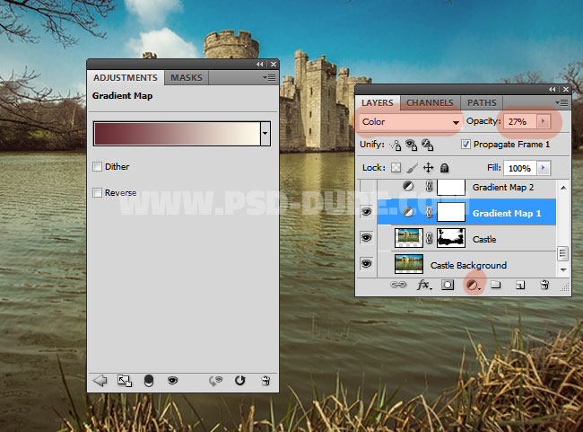 how to change opacity in preview