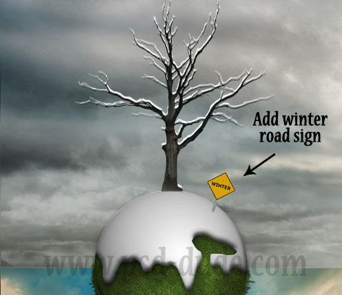 Зимняя фотоманипуляция в Фотошопе