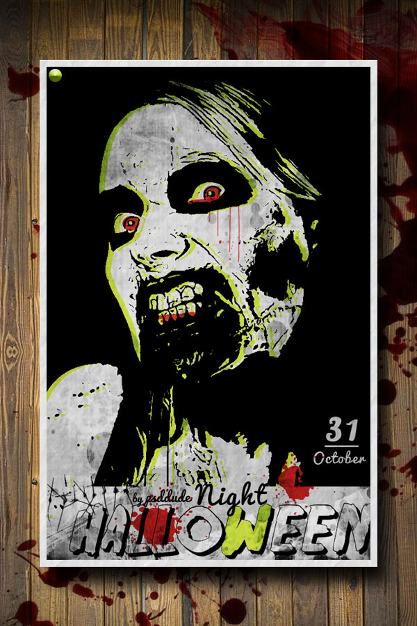 Create a Zombie Halloween Party Flyer in Photoshop