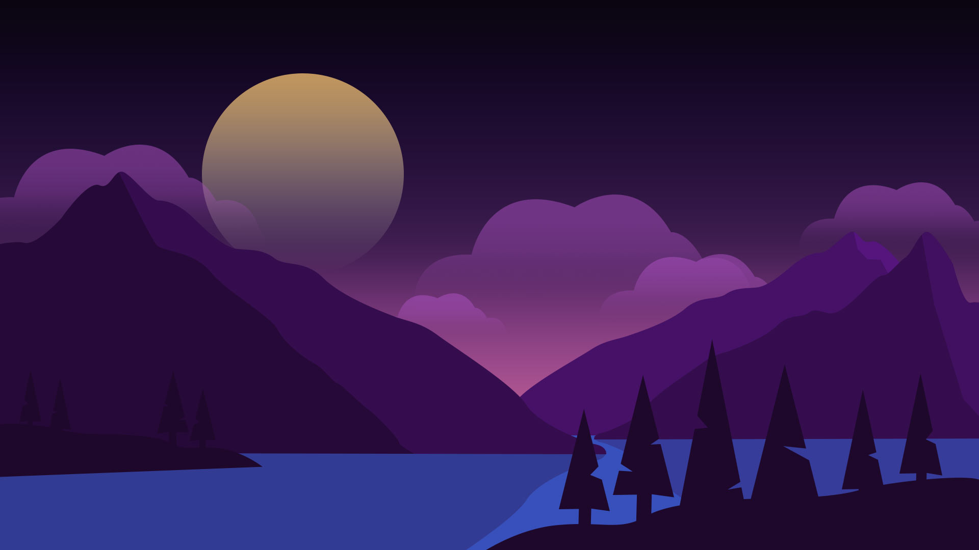 add vector clouds to landscape background