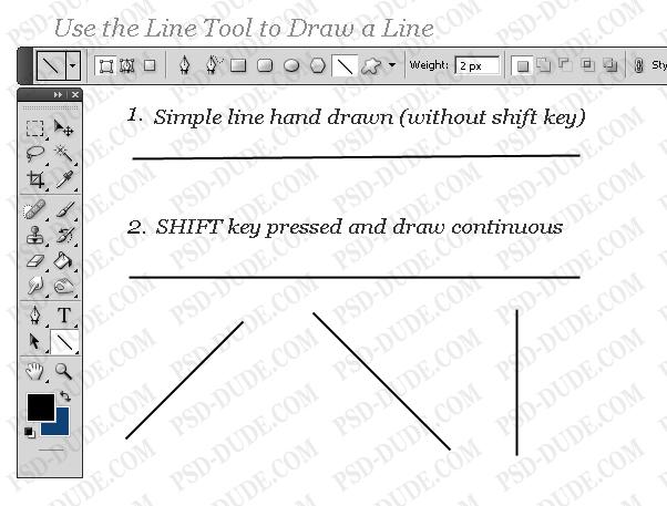 How to Draw a Line - Photoshop tutorial | PSDDude