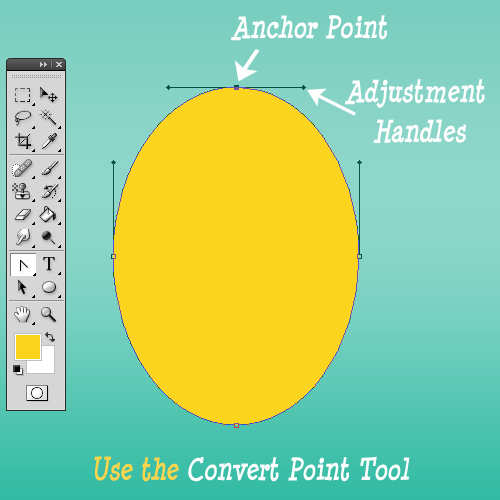 How To Use The Convert Point Tool In Photoshop To Adjust Ellipse Shape