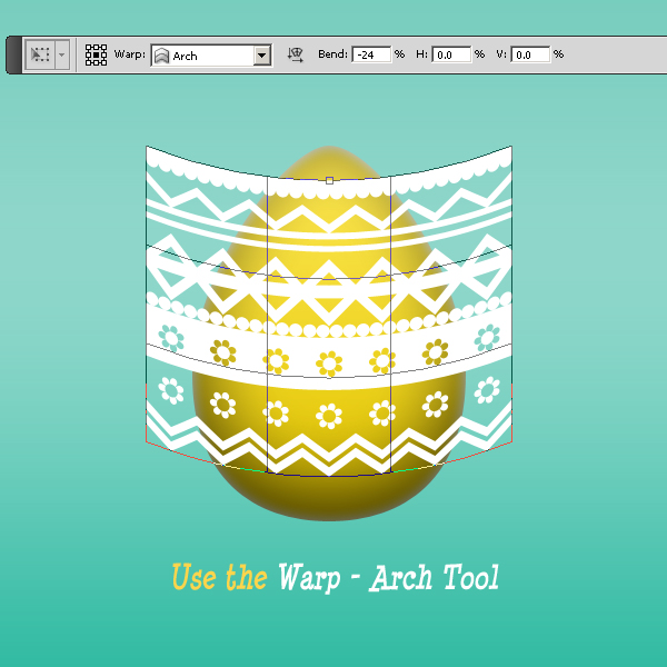 Use The Warp Tool In Photoshop For Rounded Easter Egg Decorations