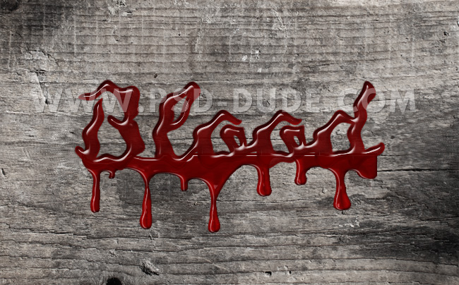 dripping blood photoshop