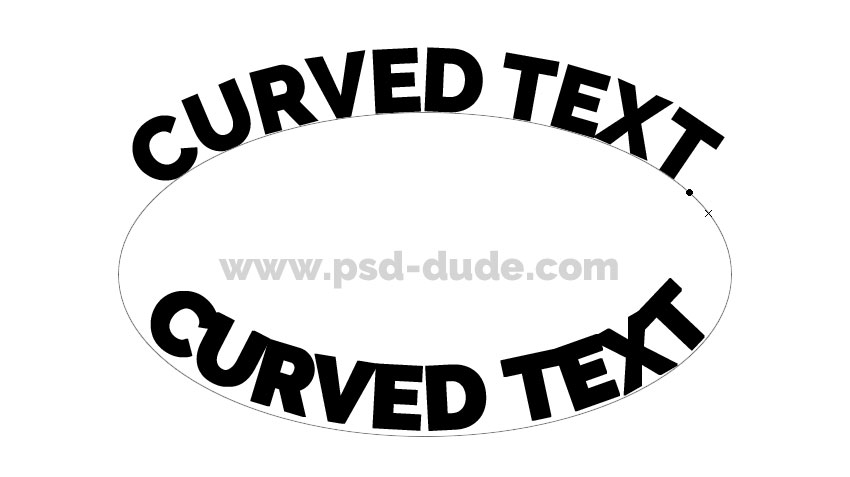Curved Text Photoshop