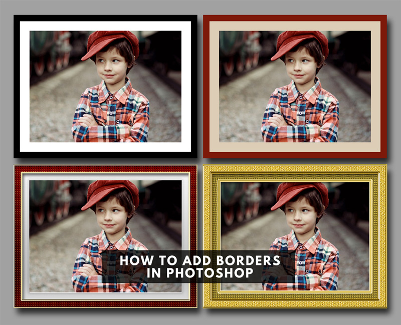 How to Put a Border Around an Image in Photoshop