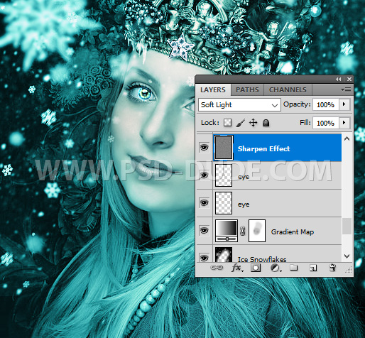 Sharpen Photoshop Ice Effect Frosted Portrait