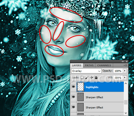 Adding Highlights To The Portrait In Photoshop