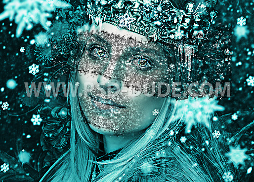 Add Glitter Texture To Create An Ice Effect Makeup In Photoshop