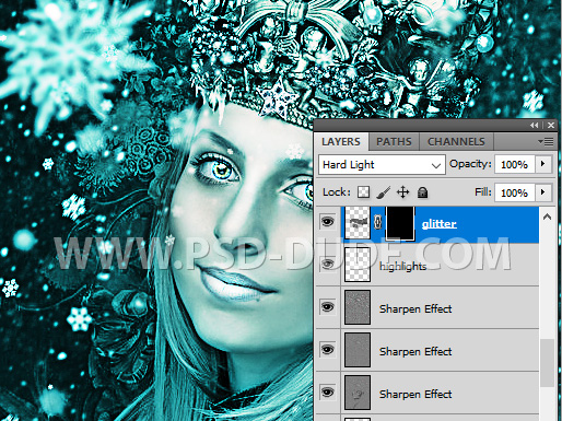 Create A Glitter Makeup Photoshop Layer Mask