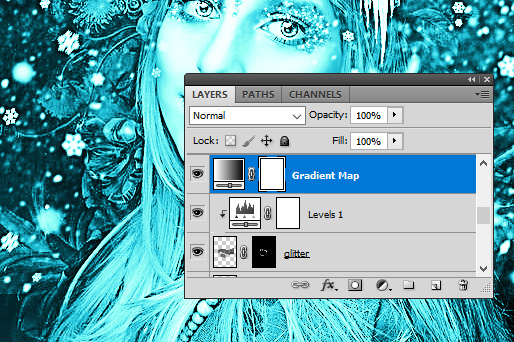 Add Another Photoshop Frozen Gradient Map Effect