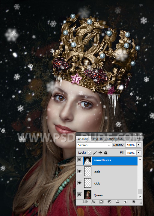 Adding Snow Overlay To An Image Using Photoshop