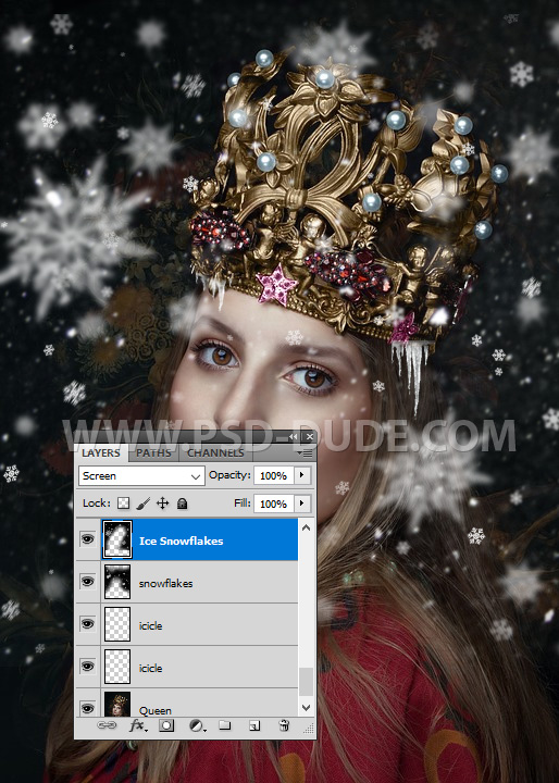 Create Snowing Effect In Photoshop