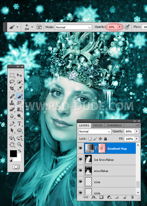 Reduce The Frozen Effect Using A Photoshop Layer Mask