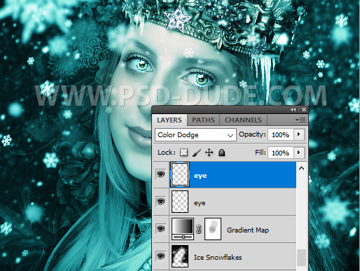 Frosted Portrait Eyes Effect In Photoshop