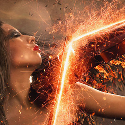 Angel with Fire Wings Photoshop Manipulation Tutorial
