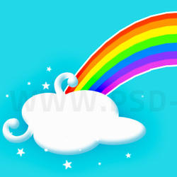 Creating A Cartoon Rainbow psd-dude.com Tutorials