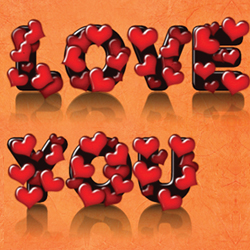 Photoshop Love Text Effect for Valentine Day psd-dude.com Tutorials