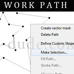 Create Work Path in Photoshop
