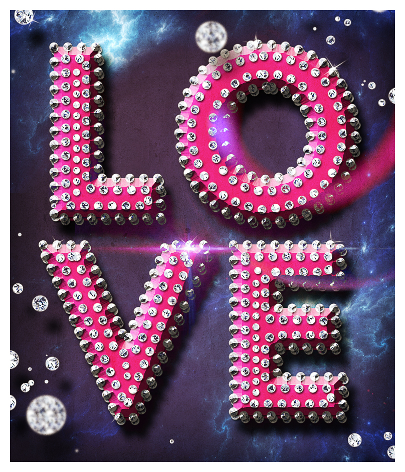 love text style photoshop