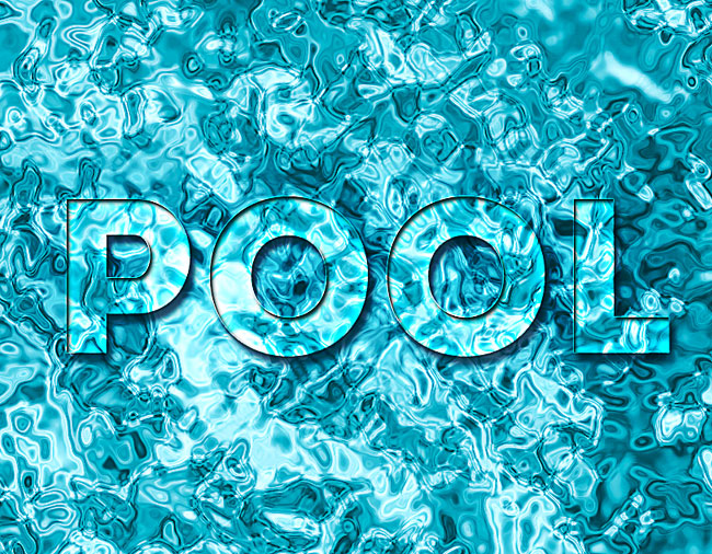 pool water text texture photoshop tutorial