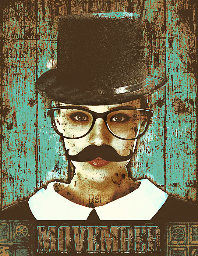 create a movember flyer photoshop tutorial