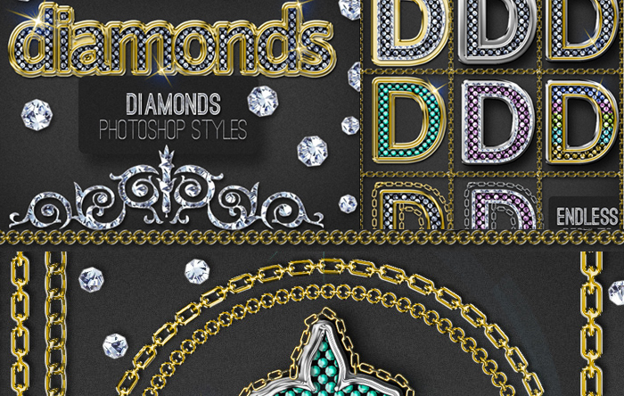 Bling-Bling Diamonds and Gold Photoshop Style Creator