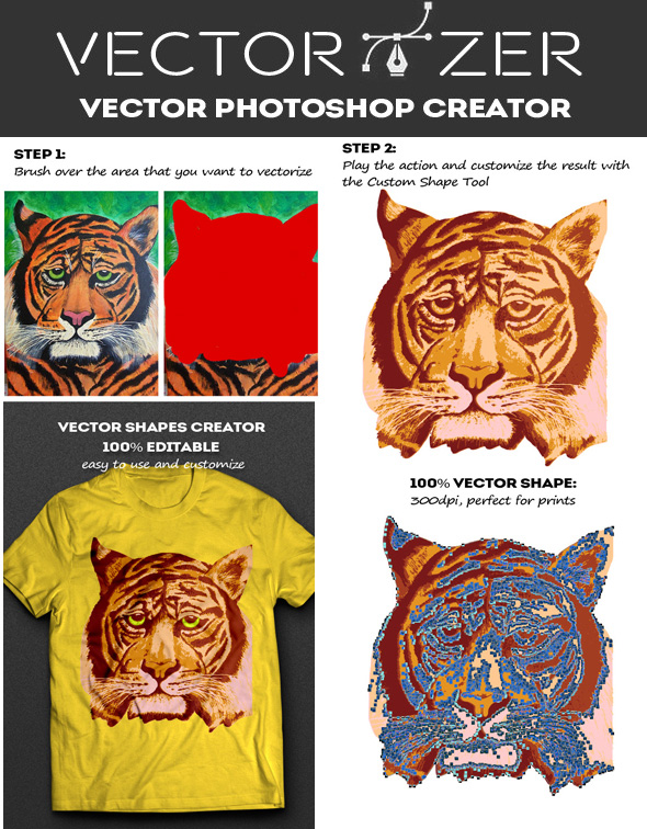 Convert Image to Vector Photoshop Action