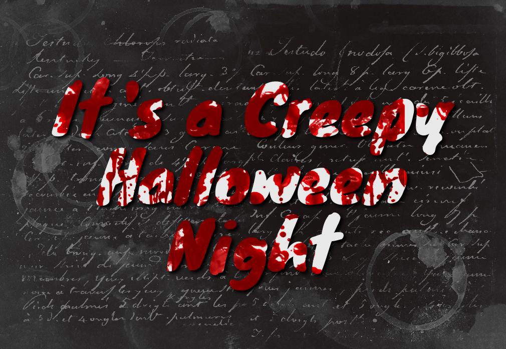 Creepy Halloween Text Effect