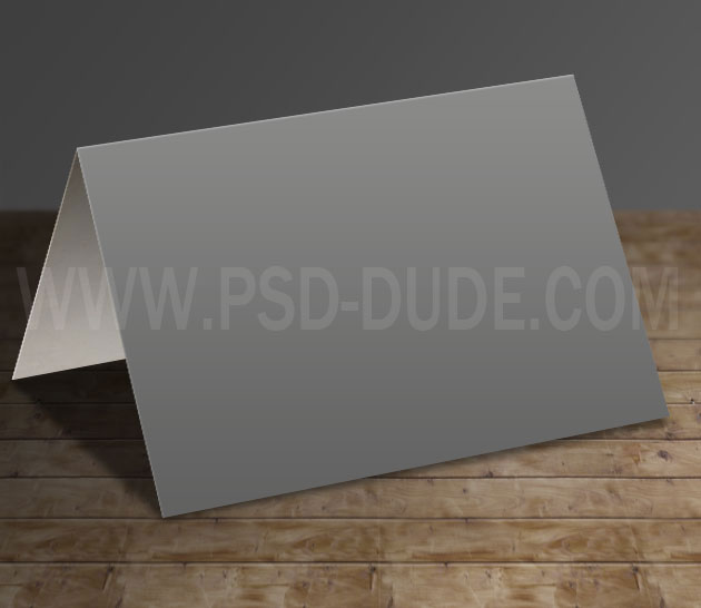 greeting card template horizontal