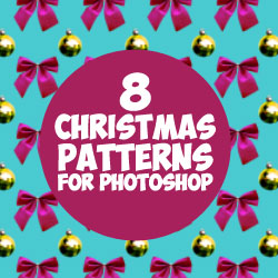 Free Christmas Ornament Patterns for Photoshop psd-dude.com Resources