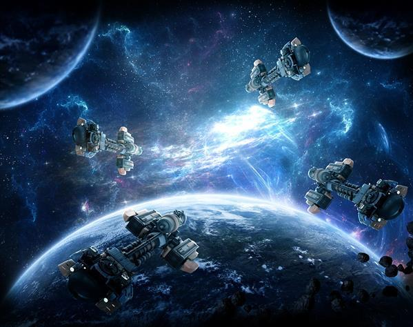 Epic Battle in Space Photo Manipulation