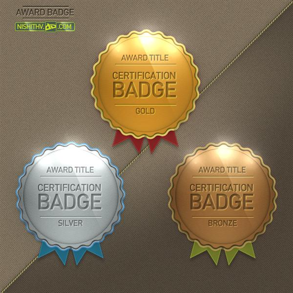 Award Badge PSD by NishithV photoshop resource collected by psd-dude.com from deviantart
