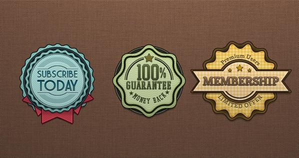 Retro Badge and Vintage Label Template PSD
