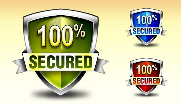Security Shield Badge PSD