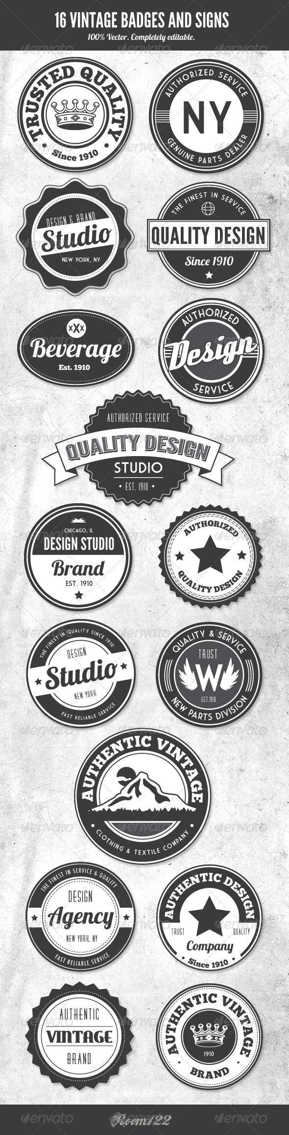 Vintage Badge and Logo PSD Premium