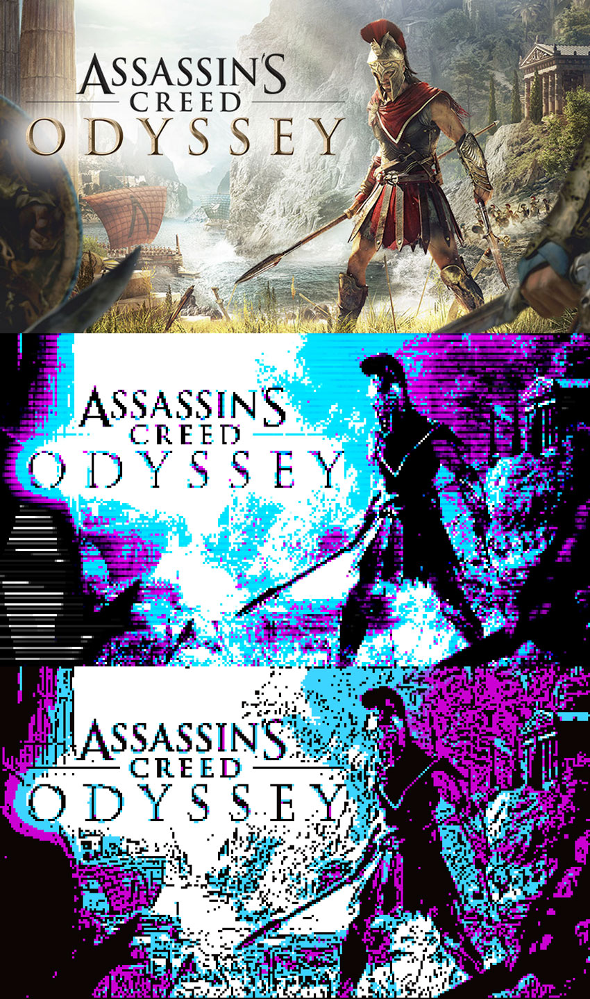 Assassin's Creed Odysey In CGA Colors