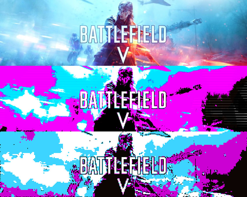 Battlefield 5 Retro CGA Effect