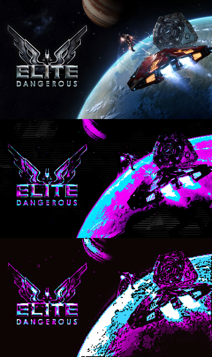 CGA Colors Wallpaper Elite Dangerous