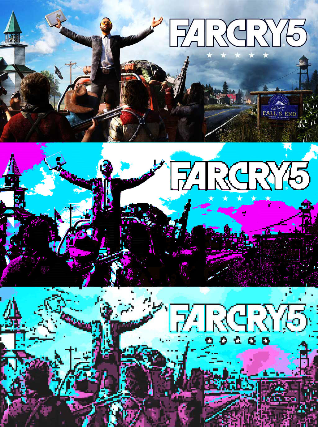 Farcry 5 Pixel Art With CGA Colors