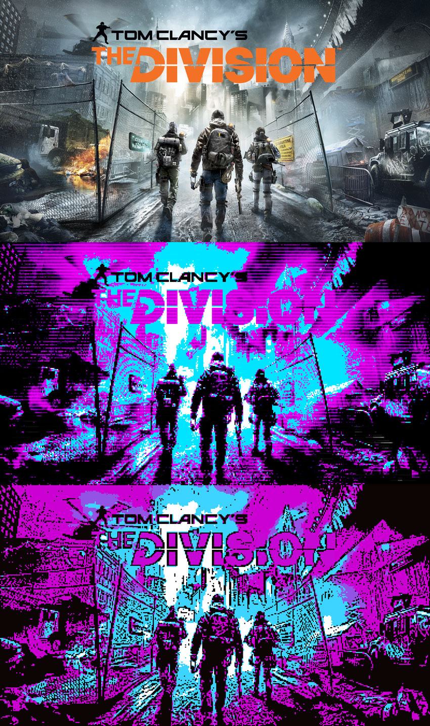 Tom Clancy The Division 2 CGA Colors Effect