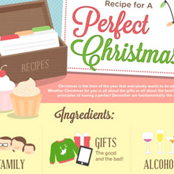 Christmas Infographics Food and Recipes psd-dude.com Resources