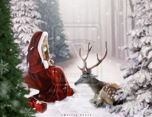 Lovely Merry Christmas Photoshop Artwork