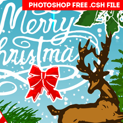 Free Christmas Photoshop Vector Silhouettes psd-dude.com Resources