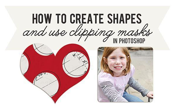 Add Custom Shapes as Clipping Mask in Photoshop