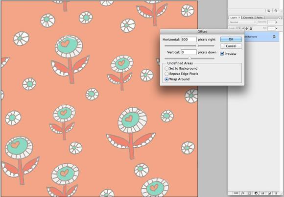 Repeat pattern in Photoshop