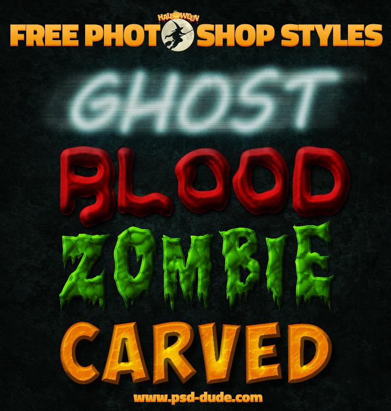 Free Halloween Photoshop Text Styles