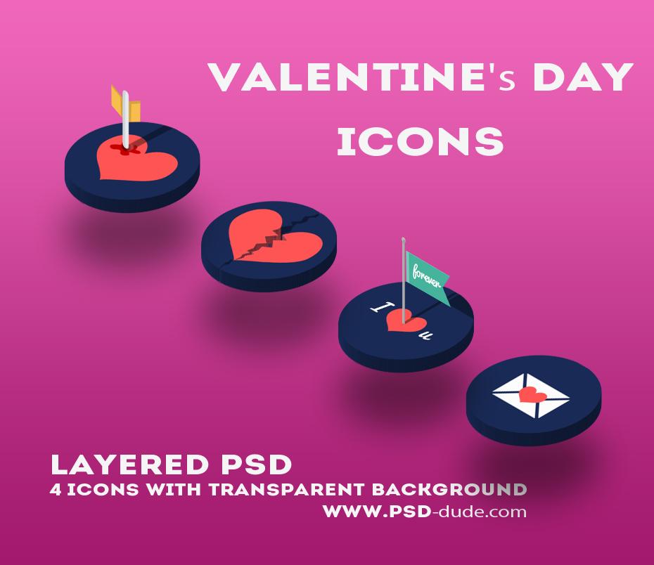 Valentine Day Love Icons (FREE)